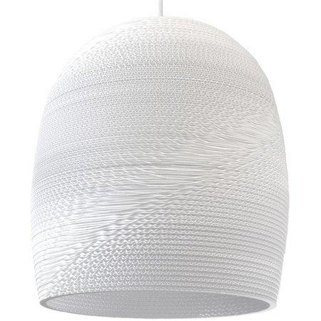 Luminaire suspendu design blanc beige carton Ø 38cm E27