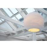 Hanglamp bol wit of beige design groot karton Ø 82cm E27