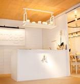 Pendant light design LED vintage white, bronze 16 candles