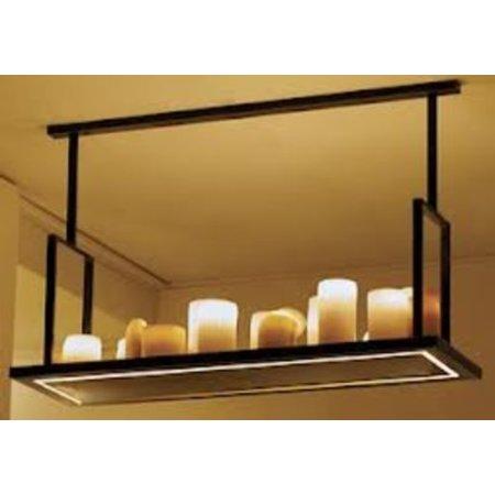 Hanglamp met kaarsen 16 x LED design landelijk wit, brons