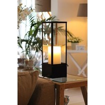 Lampe de table Authentage country style LED design 1 bougie 450mm large
