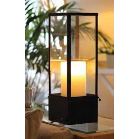 Lampe de table style country LED design 1 bougie 450mm large