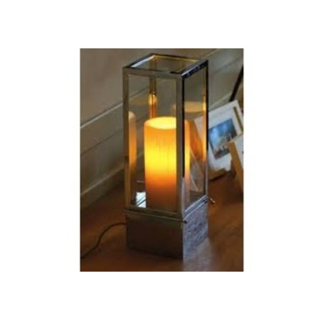 Table lamp country style LED design 1 candle 450mm wide