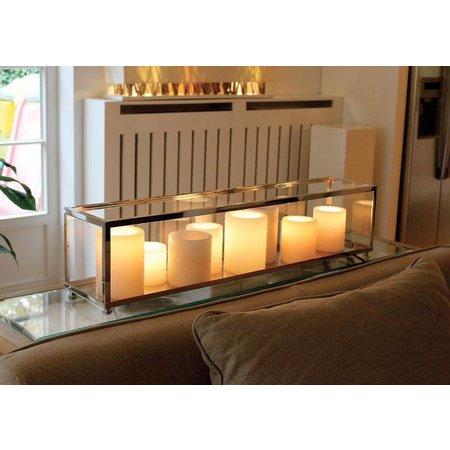 Lampe de table LED bronze-chrome-nickel 11 bougies 1,25m
