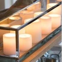 Tafellamp landelijke stijl LED met 11 kaarsen 1,25m lang