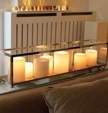 Lampe de table design LED bronze-chrome-nickel 14 bougies