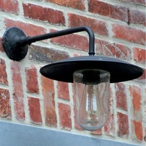 Outdoor wall light rural bronze-nickel-chrome E27 60cm 90°