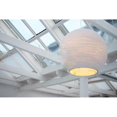 Hanglamp bol wit of beige design groot karton Ø 163cm E27