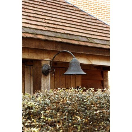 Outdoor wall light rural bronze curve E27 85cm deep