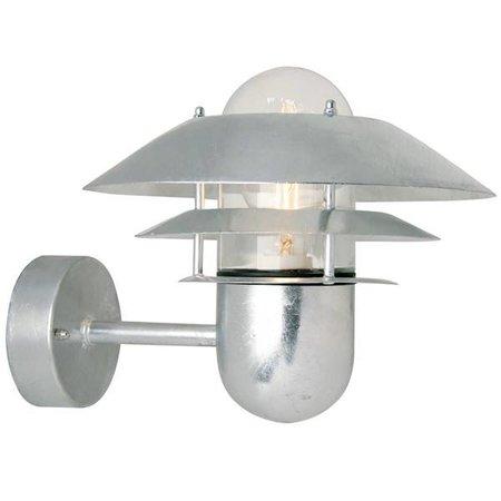 Outdoor wall light fixture metal IP54 E27 240mm high
