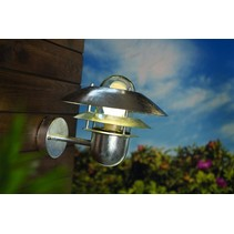 Outdoor wall light fixture metal IP54 E27 240mm high