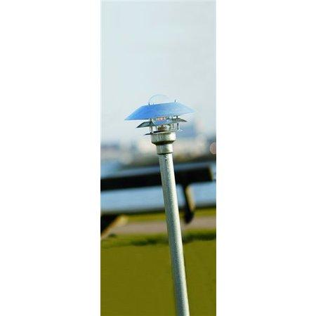 Tuinpaal lampenkap metaal glas IP54 1180mm hoog