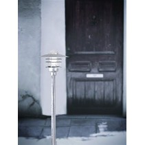 Bollard lighting metal glass IP54 830mm high