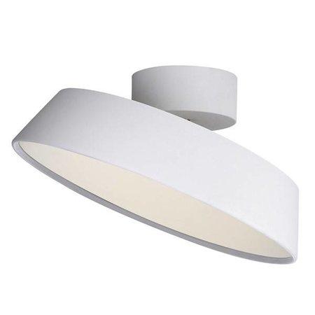 Plafondlamp wit of grijs kantelbaar LED 12W 300mm Ø