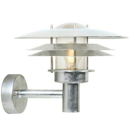 Wandlamp industrieel buiten metaal IP54 E27 260mm H