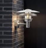 Outdoor wall light metal IP54 E27 260mm high