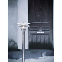 Bollard lighting metal glass IP54 920mm high