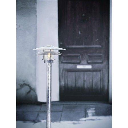 Tuinpaal lampenkap metaal glas IP54 920mm hoog