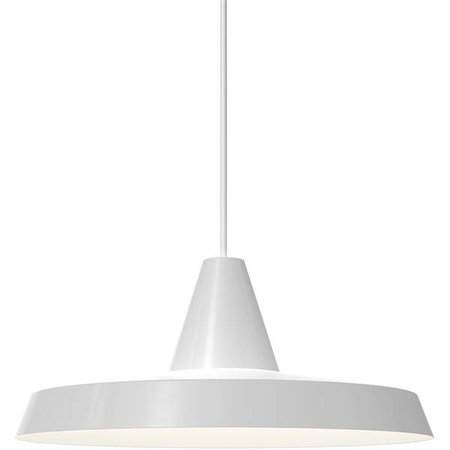 Pendant light black or white round E27 350mm Ø