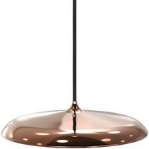 Luminaire suspendu LED rond gris mat, gris argent, noir, blanc  ou cuivre 14W 250mm Ø