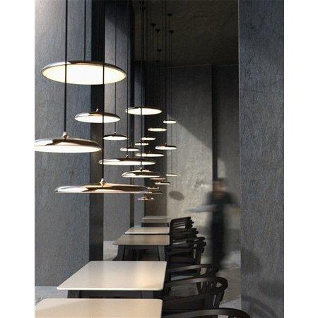 Hanglamp koper, zilver, zwart en mat grijs of zilvergrijs LED rond 14W 250mm Ø