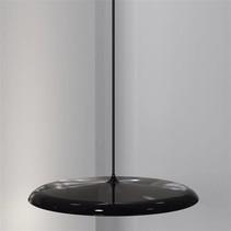 Luminaire suspendu LED rond gris ou cuivre 27W 400mm Ø