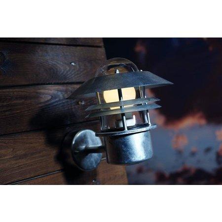 Wandlamp buiten koper-zwart-gegalvaniseerd-inox E27 230