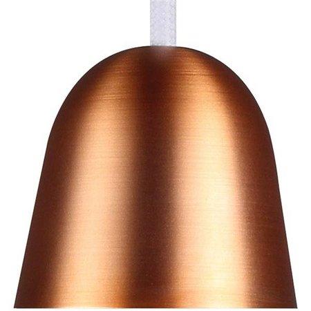 Hanglamp koper, staal glas peer E27 210mm Ø