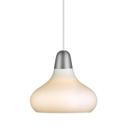 Pendant light design copper, steel, glass pear E27 210mm