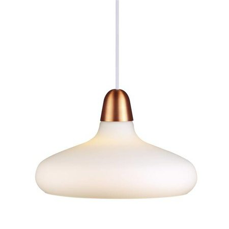 Hanglamp koper, staal glas peer E27 290mm Ø