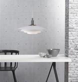Hanglamp wit metaal E27 380mm diameter