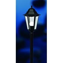 Lampadaire exterieur noir métal E27 IP44 1000mm haut