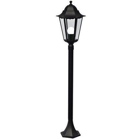 Bollard black metal E27 IP44 1000mm high