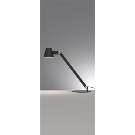 Desk lamp black or grey E27 flexible 750mm high