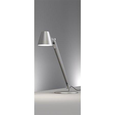 Lampe de bureau noire ou grise E27 flexible 750mm haut