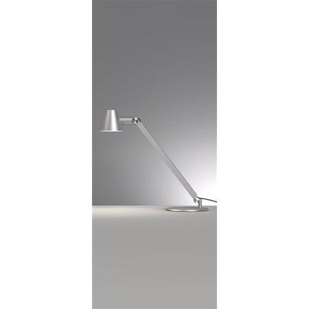 Bureaulamp zwart of grijs E27 flexibel 750mm hoog