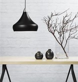Luminaire suspendu noir E27 conique 300mm