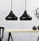 Pendant light black E27 conic 300mm Ø