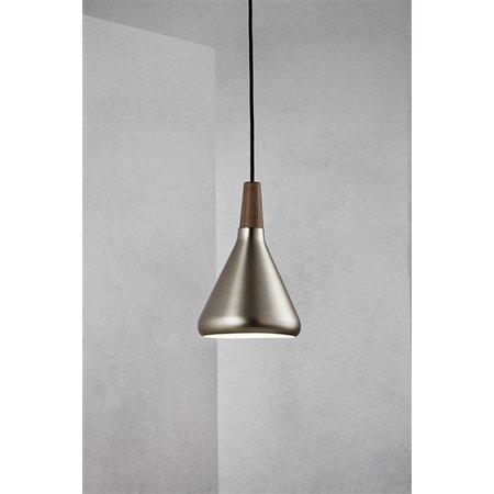 Hanglamp koper of grijs conisch E27 180mm Ø