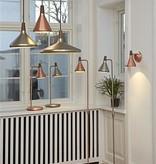 Luminaire suspendu cuivre ou gris conique E27 180mm Ø