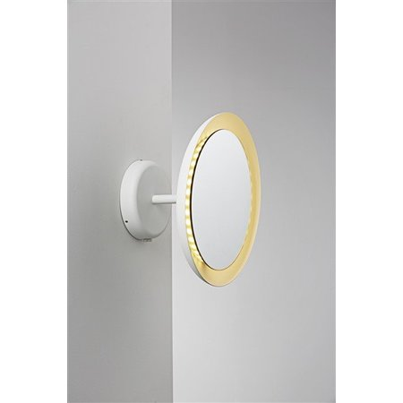 Wandlamp badkamer spiegel wit LED 8W IP44 300mm Ø