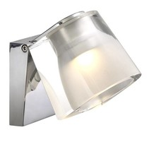 Wall light bathroom LED white or chrome 3W 105mm wide