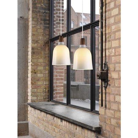 Luminaire suspendu verre E27 conique 200mm Ø