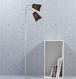 Lampadaire liseuse noir tissu 2xE14 1550mm haut