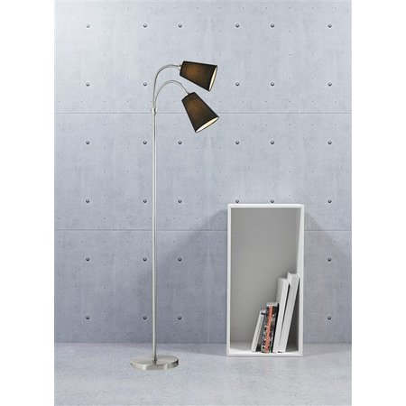 Floor lamp with reading light black 2xE14 1550mm high