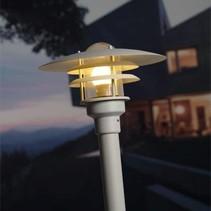 Lampadaire exterieur noir, blanc ou gris E27 IP44 1160mm haut