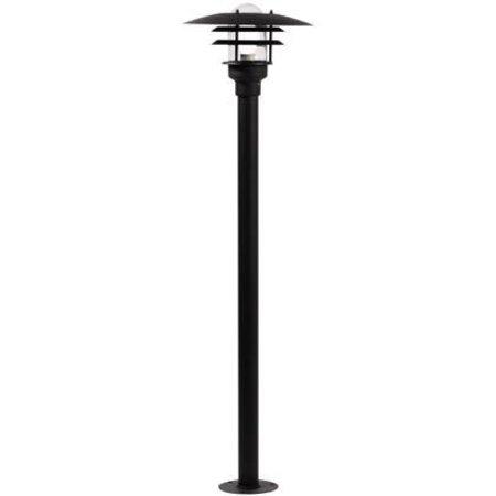 Tuinpaal zwart, wit of grijs E27 IP44 1160mm hoog