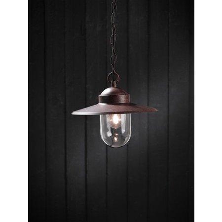 Luminaire suspendu vintage chaine rouille E27 1600mm haut