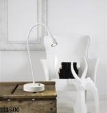 Bureaulamp LED wit-zwart-groen-chroom flexibel 390mm H