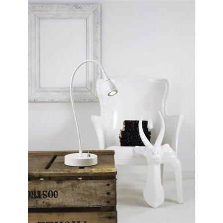 Lampe de bureau LED blanche-noire-verte-chrome 390mm